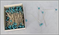Špendlík  - modrá perla malá -1ks