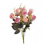 Kytice trsových růžiček - růžovolososová