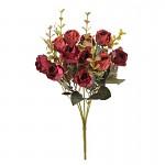 Kytice trsových růžiček - červená