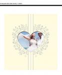 Svatební fotoalbum samolepící - srdce- krémové
