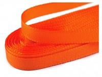 Taftová stuha 10 mm - oranžová - 1m