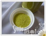 Dekorační písek  - žlutozelený jemný