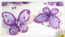 Motýl s kamínky - fialový