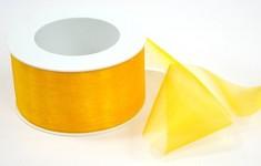 Stuha monofilová - žlutá -1m
