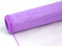 Organza šerpa - sv.fialová