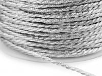 Stuha kroucená - stříbrná - 1m