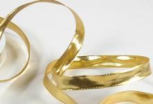 Stuha zlatá 15mm - lesklá - 1m