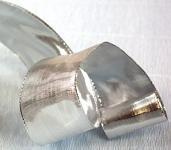Stuha stříbrná široká 40 mm - lesklá - 1m
