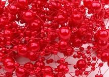 Perličky na silikonu - jasně červené malé