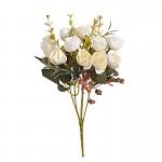 Kytice trsových růžiček - krémová