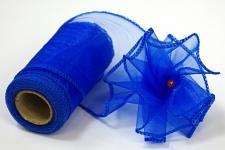 Organza stuha - tm. modrá