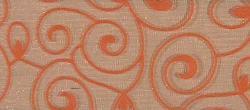 Dekorační stuha široká s ornamentem oranžová - 1m