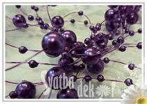 Perličky na silikonu -tm. fialové malé