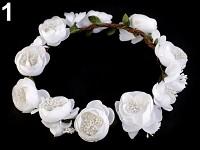 Věneček velký s bílými květy