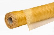 Organza šerpa - briliant zlatá