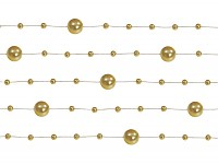 Perličky na silikonu - zlaté malé - 5ks