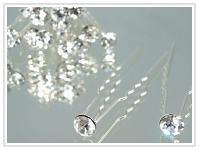 Stříbrné pérko se štrasovou peckou - crystal
