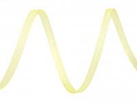 Šifonová stuha žlutá - 3mm -1m