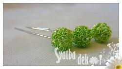 Špendlík  - drátěná kulička - zelená