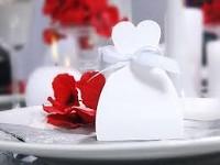 Krabička dárková - nevěsta šaty - 10ks