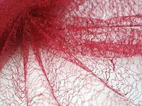 Organza pavučina - bordo
