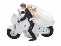 Figurka na dort - pár na motorce