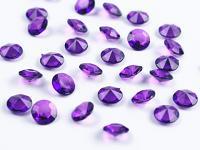 Akrylové diamanty malé - tm.fialové