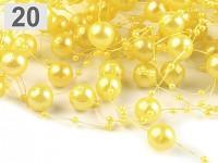 Perličky na silikonu - žluté velké