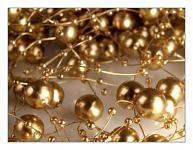 Perličky na silikonu - zlaté velké
