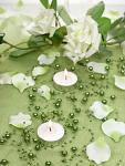 Perličky na silikonu -olivově zelené malé
