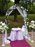 Svatební oblouk - slavobrána tmavá - půjčovna