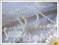 Perličky bílé 4 mm - metráž - 1 m