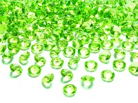Akrylové diamanty malé - sv.zelené