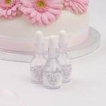 Svatební bublifuk vintage - silver romance