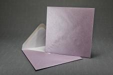 Obálka barevná čtverec - fialová perleť