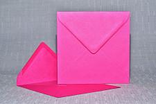 Obálka barevná čtverec - fuchsia