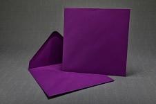 Obálka barevná čtverec - fialová