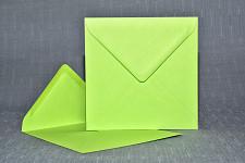 Obálka barevná čtverec - jasně zelená