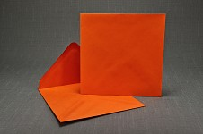 Obálka barevná čtverec - oranžová