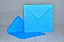 Obálka barevná čtverec - tm.tyrkysová