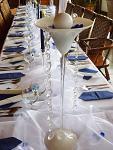 Váza Martini bílá - půjčovna