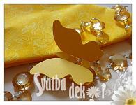 Motýlek - jmenovka, dekorace - žlutý