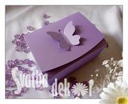 Krabička na výslužku malá- fialová s motýlkem