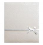 Svatební fotoalbum na fotolepky - bílé s perličkou