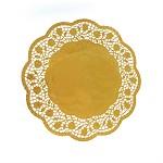 Dekorační papírová krajka - 30 cm - zlatá  - 4ks