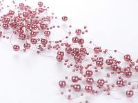 Perličky na silikonu - starorůžové malé