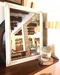 Zrcadlo bílé vintage - půjčovna
