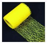 Organza pavučina stuha - žlutá