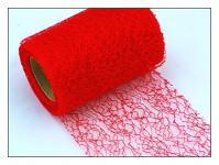 Organza pavučina stuha - červená