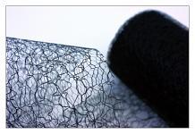 Organza pavučina stuha - černá